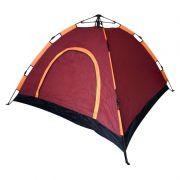 Barraca Acampamento 4 Pessoas 210cm X 210cm Montagem Rápida Tela Anti Mosquito