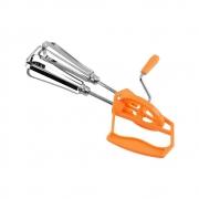 Batedor Manual Duplo Manivela Misturador de Massa Bolo Cozinha em Aço Inoxidável