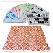Bingo Lotto Tombola Cartelas 90 Números de Madeira