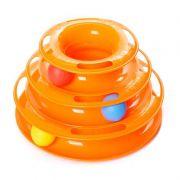 Brinquedo Interativo Torre de Trilhos Para Gatos Bola 3 Níveis