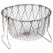 Cesto Multiuso Chef Basket Fritura Cozimento Fritadeira Escorredor para Alimentos