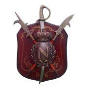 Escudo Medieval Brasão com Suporte de Parede