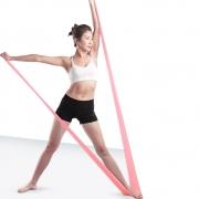 Faixa Elástica Resistente Para Treino Alongamentos Exercícios Fisioterapia Academia e Yoga
