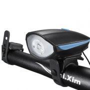 Farol LED com Buzina para Bicicleta Funcionamento À Pilha