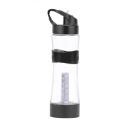 Garrafa Esportiva de Água com 4 modos de Iluminação Carregamento USB e Luz LED com Mosquetão 650 mL