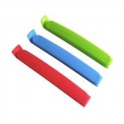 Kit 10 Clipes Prendedor Lacre Fecha Saco Embalagem Colorido