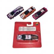 Kit 3 Carros Carrinhos Sortidos em Metal Brinquedo