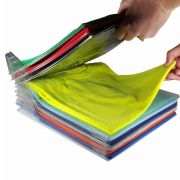 Kit 5 Camadas Organizador Roupas Camisas e Camisetas Tipo Arquivo
