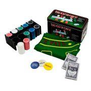 Kit Jogo de Poker Completo 200 Peças