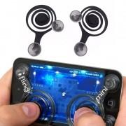 Mini Fling Analógico Portátil Joystick Controle Smartphone Dupla Ventosa