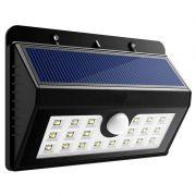 Lâmpada Luminária Solar de Parede A Prova de Água com Sensor de Presença Grande