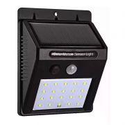 Lâmpada Luminária Solar de Parede A Prova de Água com Sensor de Presença Pequena 25 LEds