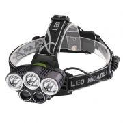 Lanterna de Cabeça 5 Modos 3 LEDs 2 UV Acampamento Trilha Caminhada