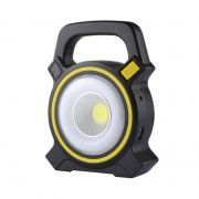 Lanterna Holofote Emergência Carregamento USB Solar Luz LED PowerBank