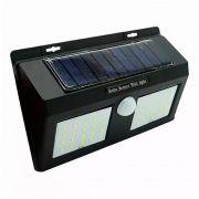 Luminária Lâmpada Solar 40 LEDs com Sensor de Presença
