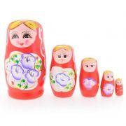 Matrioska Boneca Russa - Kit com 5 Bonecas