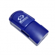 Mini lanterna Delta LED Chaveiro Azul