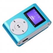Mini MP3 Player Clip com Visor LCD USB Rádio AM/FM Cartão Micro SD