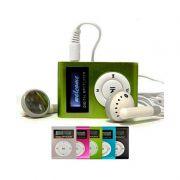 Mini MP3 Player com Visor LCD USB Radio AM/FM Cartão microSD