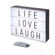 Painel Luminoso Lightbox Quadro Letras Cinema Médio 20 cm
