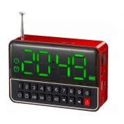 Rádio Relógio Despertador com MP3 Recarregável
