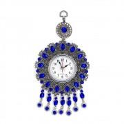 Relógio Analógico de Parede Decorativo Mistico Pedras Azuis