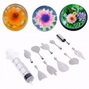 Kit Decorador de Gelatina com Seringa e 10 Bicos Flores e Flor