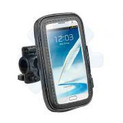 Suporte e Capa Protetora de Celular para Moto e Bicicleta - Resistente a Água - até 12 cm