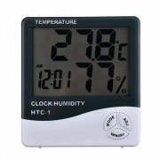 Termômetro Higrômetro Medidor de Temperatura Umidade Interno e Externo HTC-1