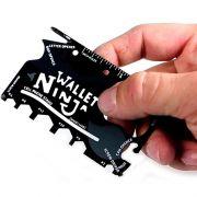 Wallet Ninja Cartão Multifuncional 18 Ferramentas em 1