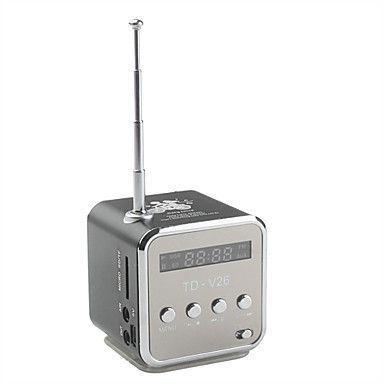 Mini Caixa de Som Portatil - Cubo com Radio FM e entrada de cartão - Frete Grátis  - Thata Esportes