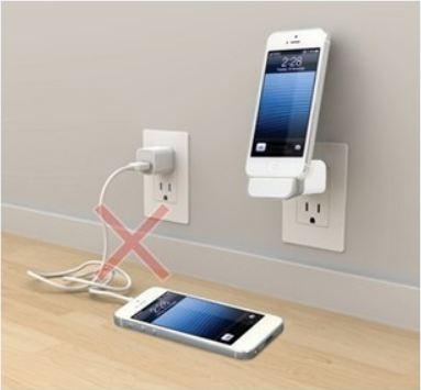 Carregador de Tomada Dock Station + USB - iPhone5, iPad, iPod - Frete Grátis
