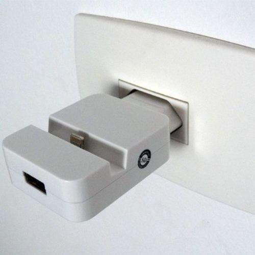 Carregador de Tomada Dock Station + USB - iPhone5, iPad, iPod - Frete Grátis  - Thata Esportes