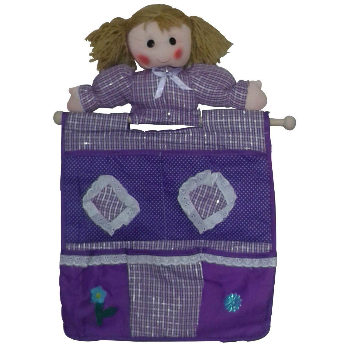 Porta Objetos Organizador Bonequiha com 4 bolsos- Frete Grátis.  - Thata Esportes