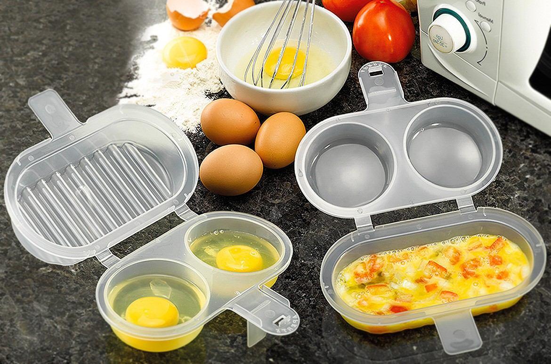 Omeleteira para Microondas - 2 lugares - Frete Grátis