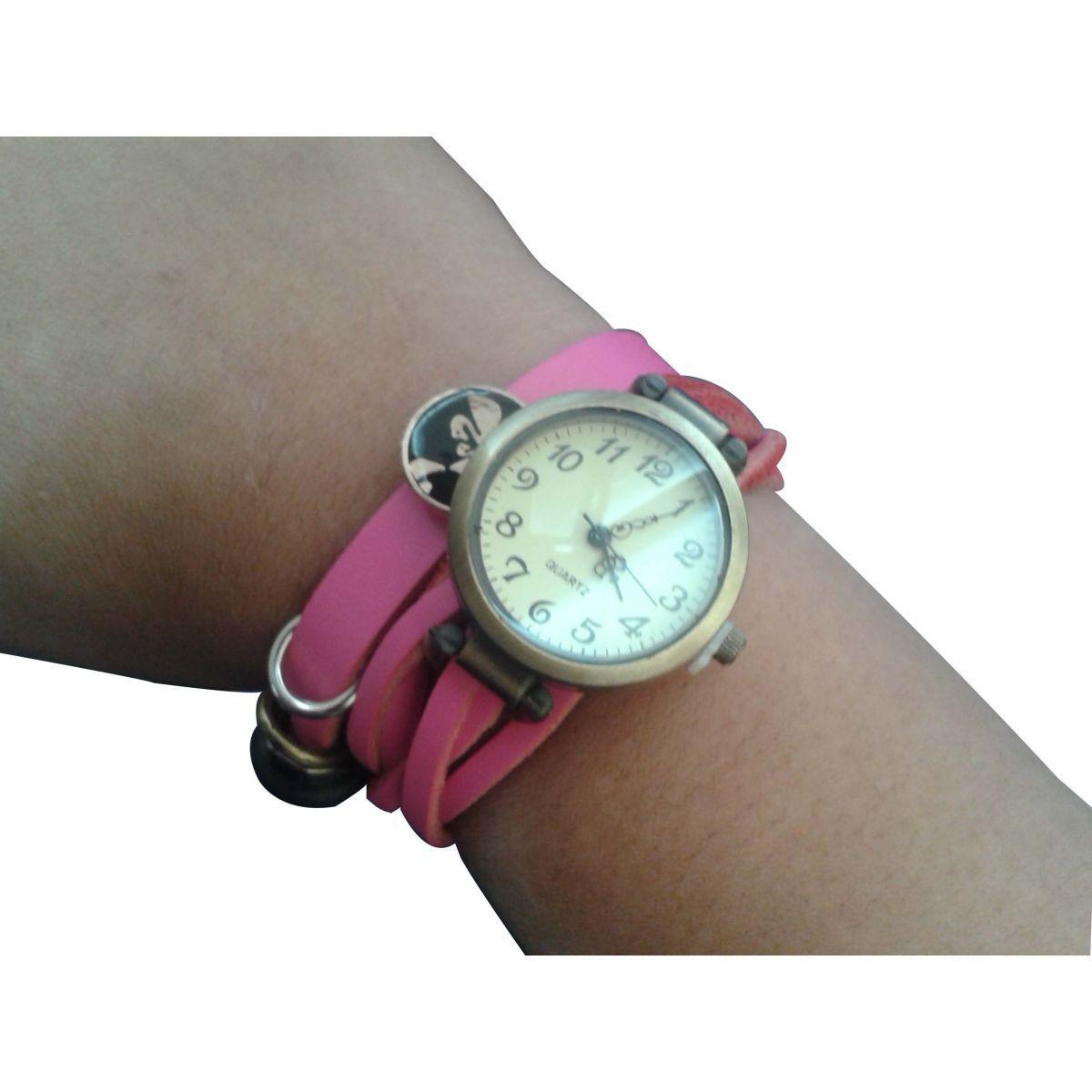 Relógio Feminino Pulseira Trançada - Frete Grátis  - Thata Esportes
