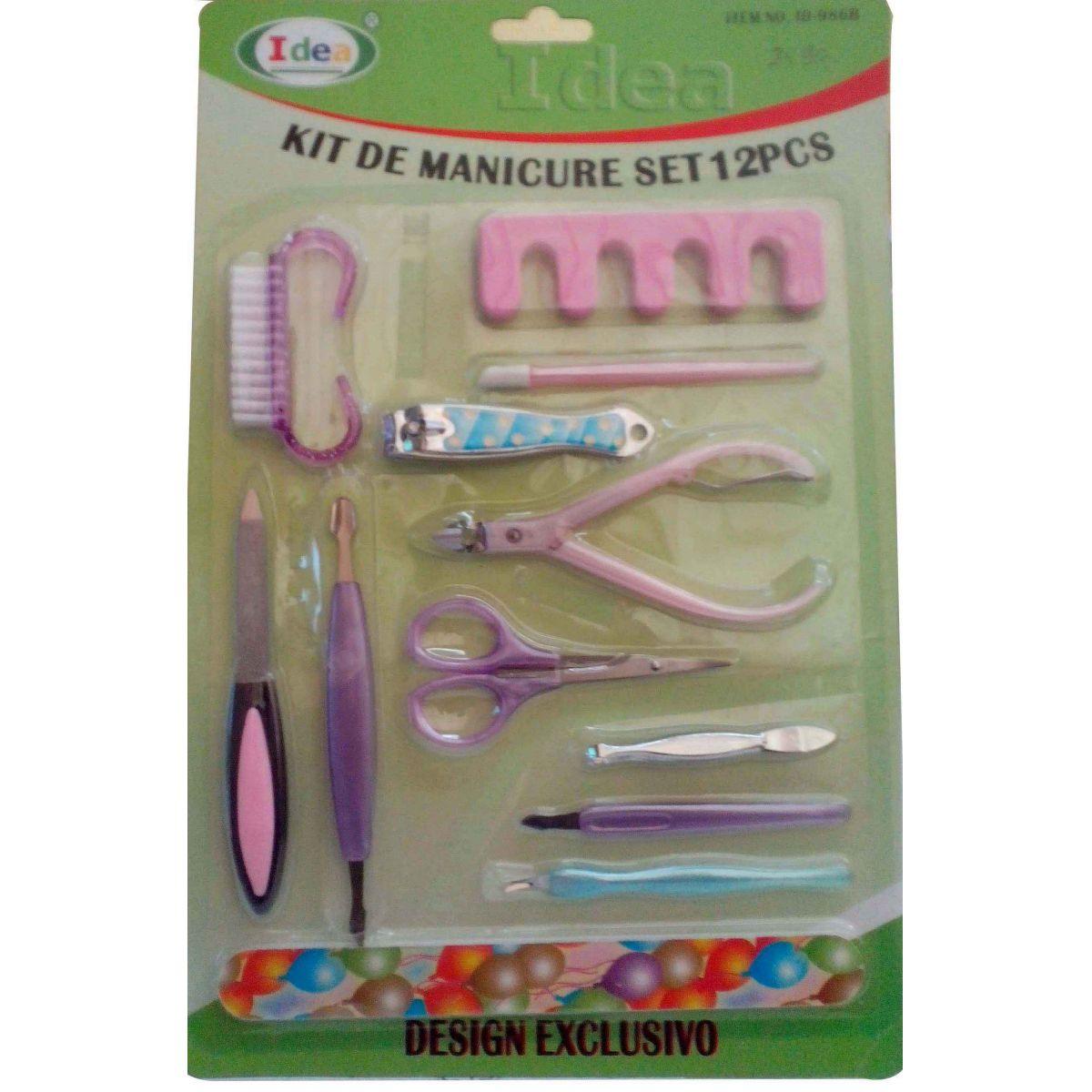 Kit Manicure Set 12 Peças - Frete Grátis