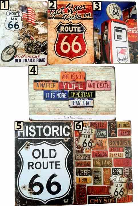 Placa Vintage Route - Frete Grátis  - Thata Esportes