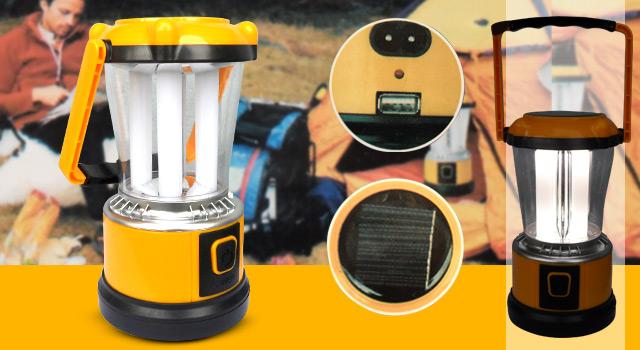 Lampião Led Solar Pilhas e Energia - Frete Grátis  - Thata Esportes