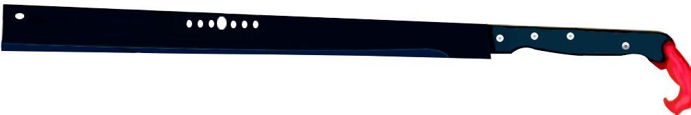 Mega Facão Espada Negra Kung Fu  - Thata Esportes