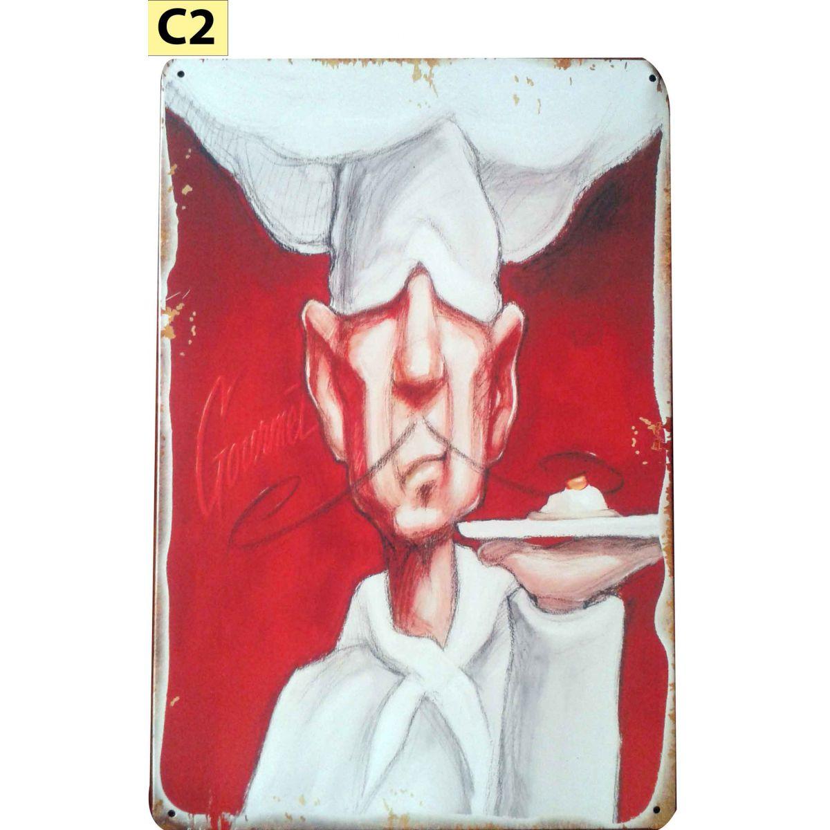 Placa Decorativa Vintage Cozinha Chefe Gourmet - Frete Grátis  - Thata Esportes
