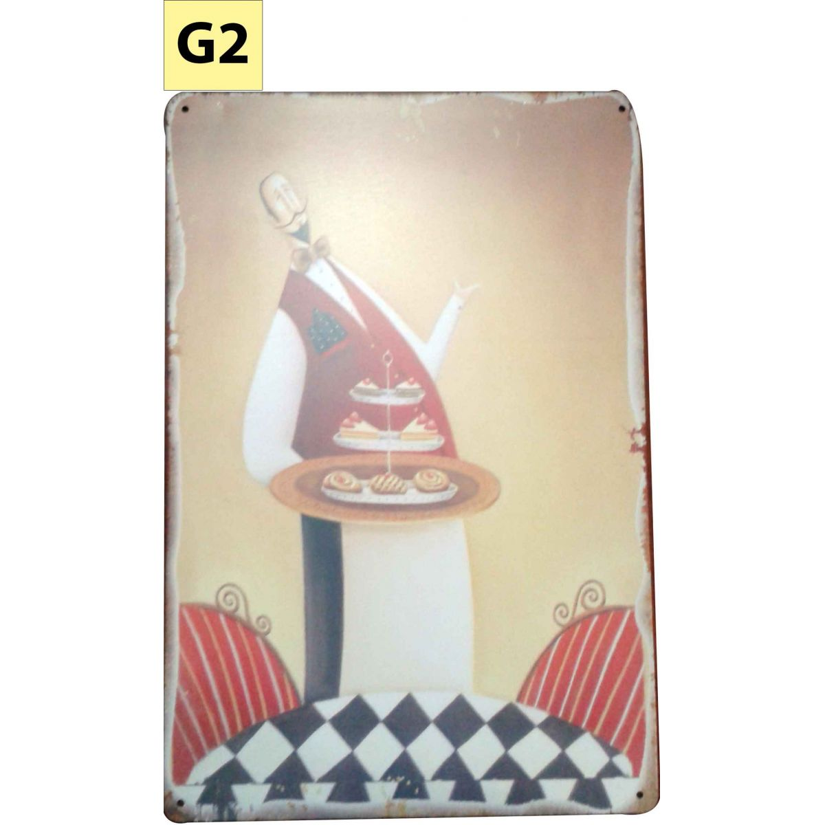 Placa Decorativa Vintage Cozinha - Garçom - Frete Grátis  - Thata Esportes