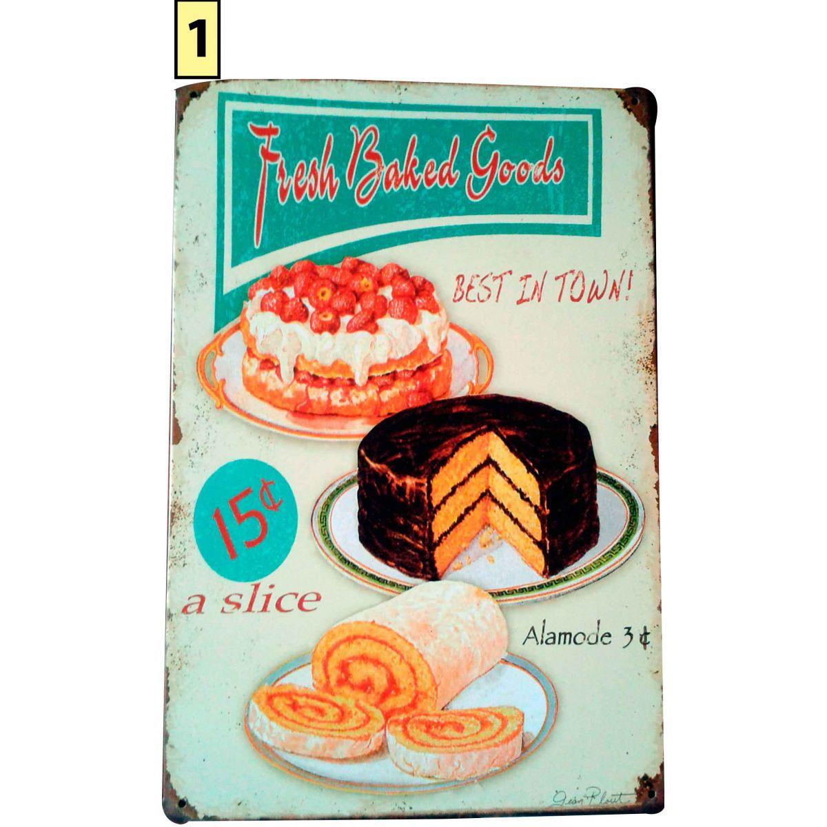 Placa Decorativa Vintage Cozinha - Torta - Frete Grátis  - Thata Esportes