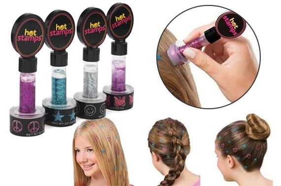 Hot Stamp Hair Carimbo de Gliter para Cabelos - Frete Grátis  - Thata Esportes