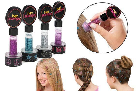 Hot Stamp Hair Carimbo de Gliter para Cabelos - Frete Grátis  - Mundo Thata