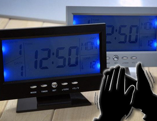 Relogio Despertador Controle de Voz - Frete Grátis  - Thata Esportes
