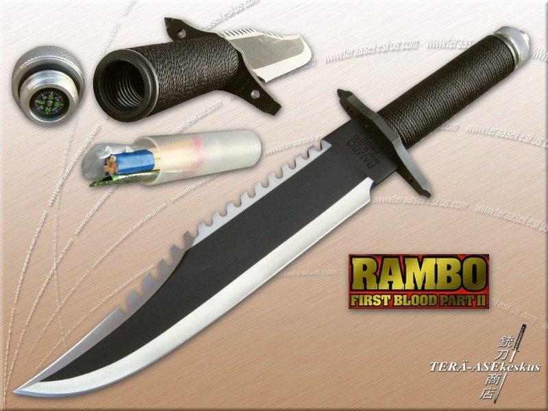 Faca Rambo First Blood Kit Sobrevivência Bússola Bainha  - Thata Esportes