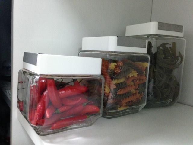 Kit 3 Potes Organizadores em Vidro - Frete Grátis  - Thata Esportes