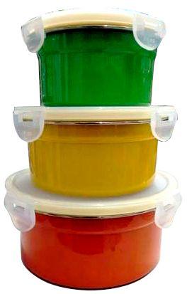 Jogo de Potes Coloridos Herméticos 3 Peças - Frete Grátis  - Thata Esportes
