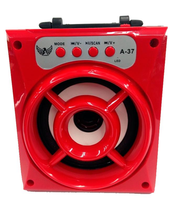 Caixa de Som Recarregável com Bluetooth + Rádio A-37 - Frete Grátis  - Thata Esportes